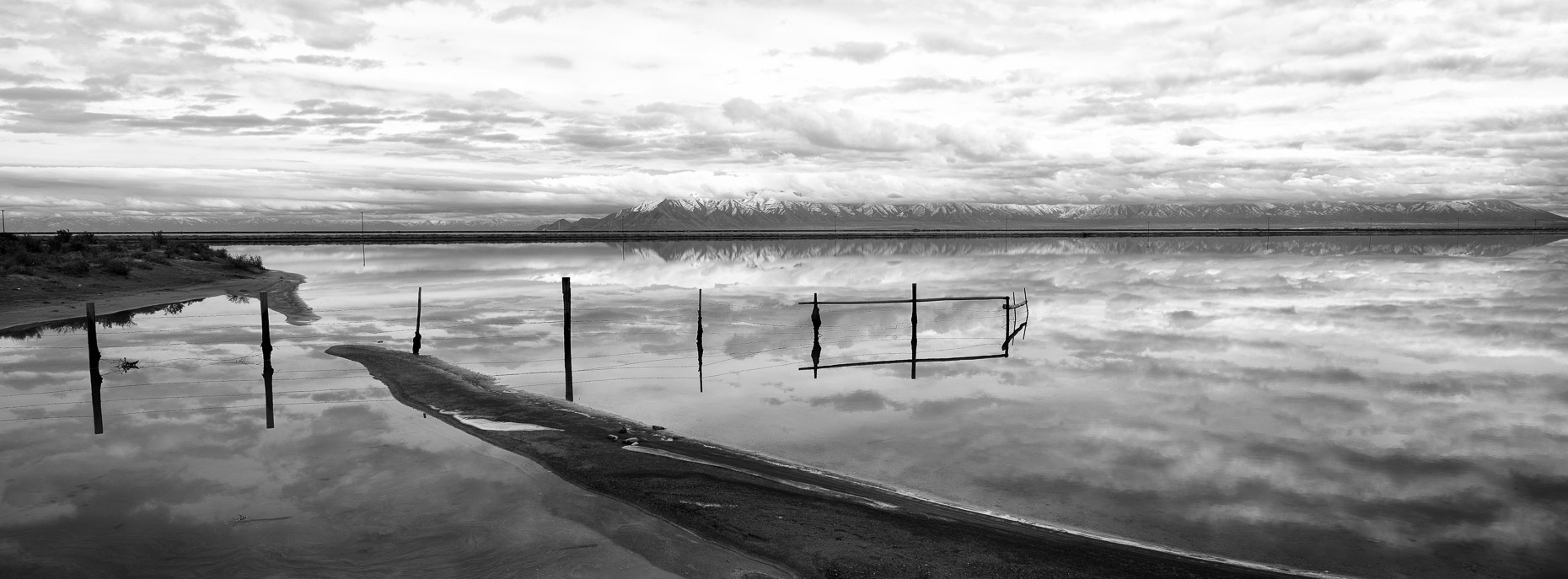 Submerged Fence in Great Salt Lake